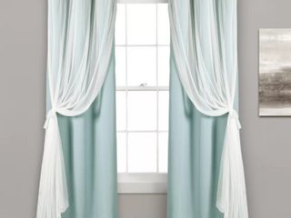 Busselton Solid Blackout Thermal Curtain   Spa Blue