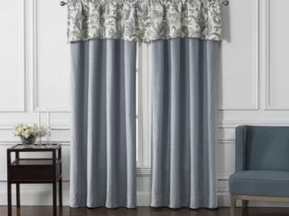 Pair of Florence Solid Room Darkening Rod Pocket Curtain Panels   Blue