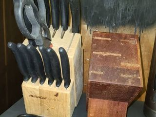 Miracle Blade Knives with Block and Extra Knife Block