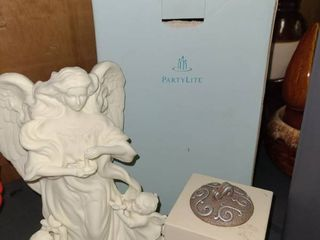 Partylite Angel Candle Holder with Votive Candle Holder