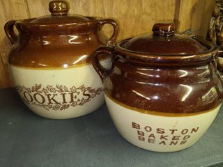 Cookie Jar and Boston Baked Beans Stoneware