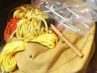 Assorted Rope Net and Stakes with large Canvas Bag