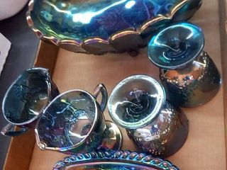 Carnival Glass 6 Pieces