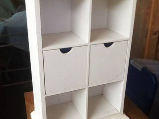 White Wood Cubby Shelves 19x 13 x 6 5 in