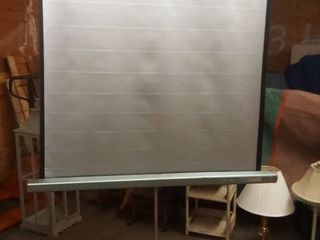 Vintage Tower Projector Screen on Adjustable Tripod Stand Screen is 50 x 48 in 84 in Overall Height with Fully Open Stand