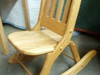 Wood Folding Childrens Rocking Chair