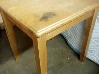 Wood End Table 18 x 16 x 16 in
