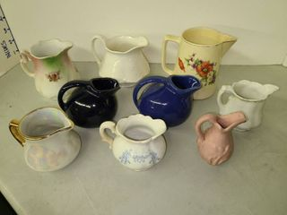 Various Ceramic and Porcelain Mini Pitchers