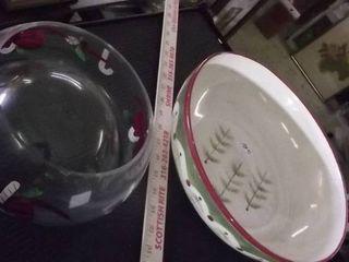 holiday serving bowls