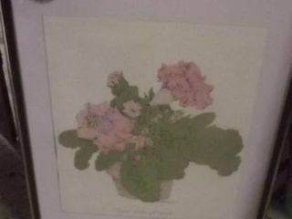 framed floral artwork