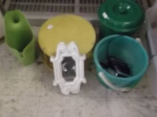 mirror   plastic canister   watering can