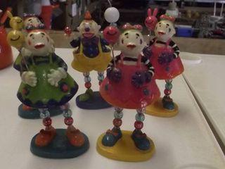clown figurines