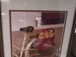 bicycle and bread framed art