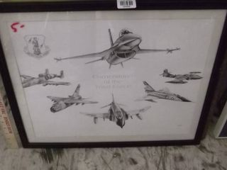 Air Force framed art work