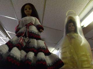2 dolls   dress