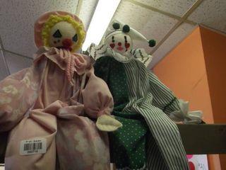2 clown dolls