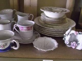 china plates   pitchers   vase   bowls