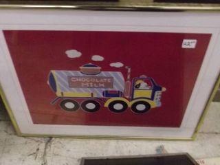 kids framed art work