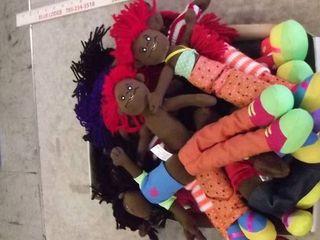 lot of plush dolls