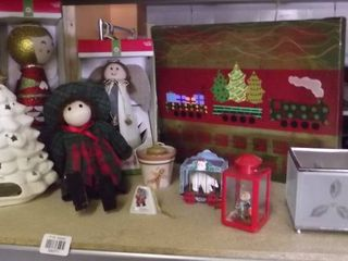 huge Christmas lot   candles   trees   ornaments