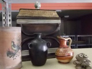 clay planter   tea box   southwestern pitchers
