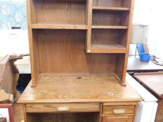 wood student desk w bookcase