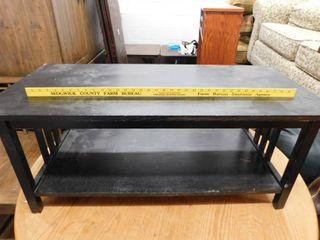 wood coffee table   black