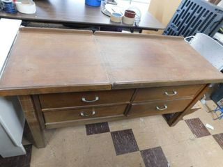 vintage medical exam table   storage drawers both sides