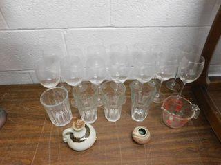 glassware lot   pyrex measuring cup