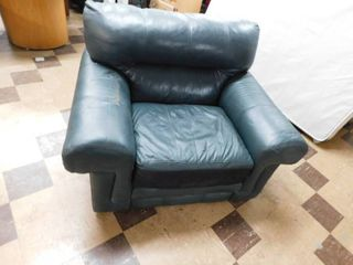 leather oversize stuffed chair