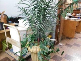 fake plant w  large vase