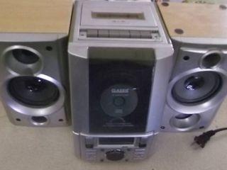 bookshelf stereo   cd   cassette   radio