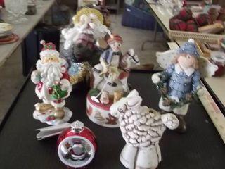 Angel   Santa and winter figurines