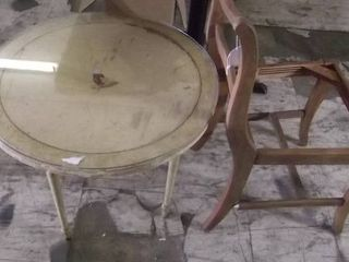 side table   chair frame