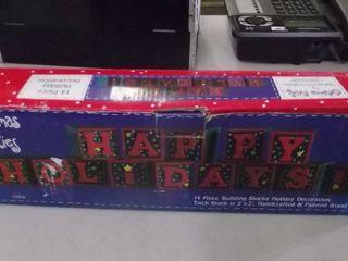 Happy Holidays building blocks