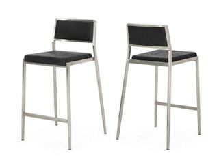 Bridle Microfiber Counter Stool by Christopher Knight Home   Set of 2