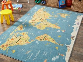 Mohawk Home Animal Map Area Rug