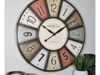 FirsTime  amp  Co  Color Motif Farmhouse Wood Wall Clock