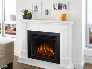 Silverton White Electric Fireplace