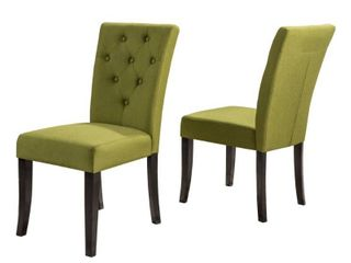 Nyomi Fabric Dining Chairs by Christopher Knight Home   Set of 2