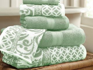 Reversible Yarn Dyed Jacquard Towel Set