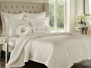 J Queen New York Satinique Quilted Sham Bedding   King