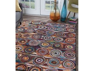 Alise Rugs Rhapsody Contemporary Circles Scatter Mat Rug