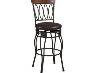 linon Bronze Bar Stool Elliptical Back Design