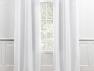 Chaps Home lise Solid Textured linen look Grommet Top Curtain Panels   Set of 2