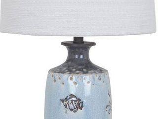 Pair of Coastal Marine Soft Blue 31 nch Table lamp Retail 141 91