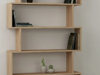 Porch   Den Celilo Melamine Coated Modern Bookcase Color  Oak