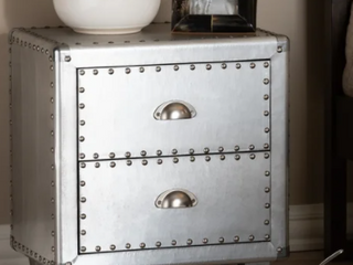 French Industrial 2 Drawer Nightstand Retail 197 99