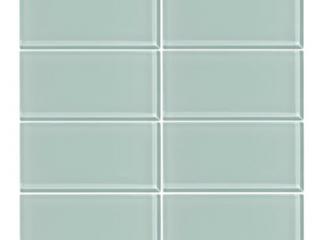 Vicci Design Seafoam Green Glass 3 inch x 6 inch Subway Tiles  6 Square Feet