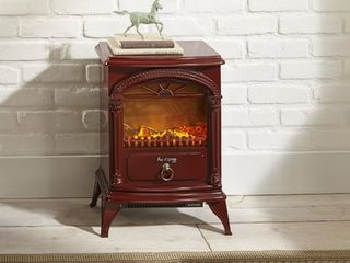 Hamilton Free Standing Electric Fireplace Stove by e Flame USA   Red